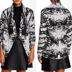 Michael Stars Printed cashmere wool blend cardigan